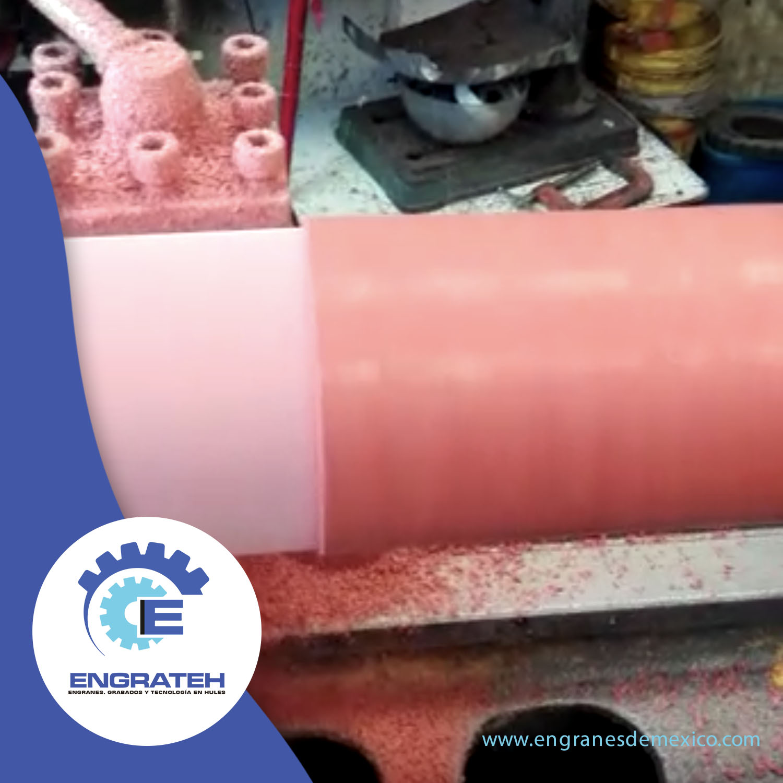 Fabricación y recubrimiento de rodillos en silicón